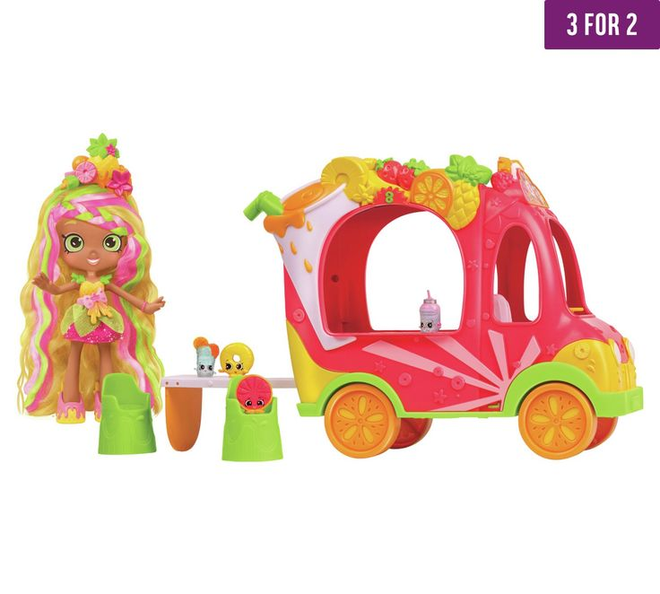 Buy Shopkins Shoppies Juice Bar Truck with Pineapple Lilly Doll at Argos.co.uk - Your Online Shop for 3 for 2, Toys.