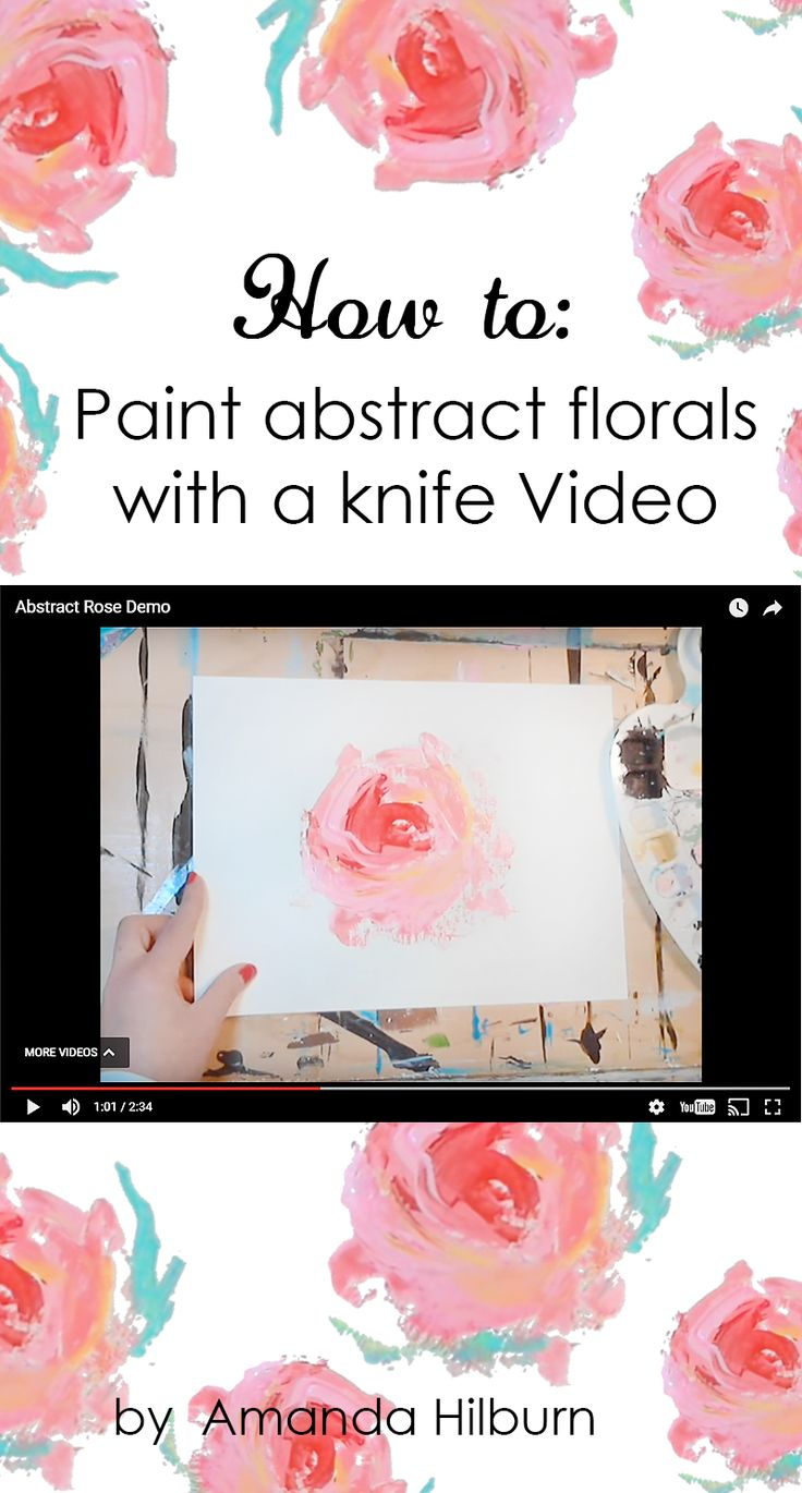 How to: Paint Abstract Florals with a Knife
