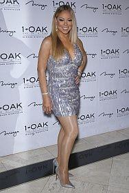 Mariah Carey In Shiny Tights Las Vegas Feb 20 2016