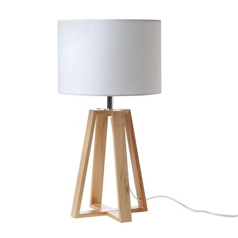 wooden Table Lamp homemaker- kmart. Bargain $20. For top of shoe cabinet. Set to timer?