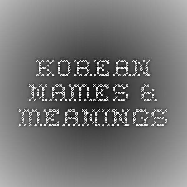 Korean Names & Meanings