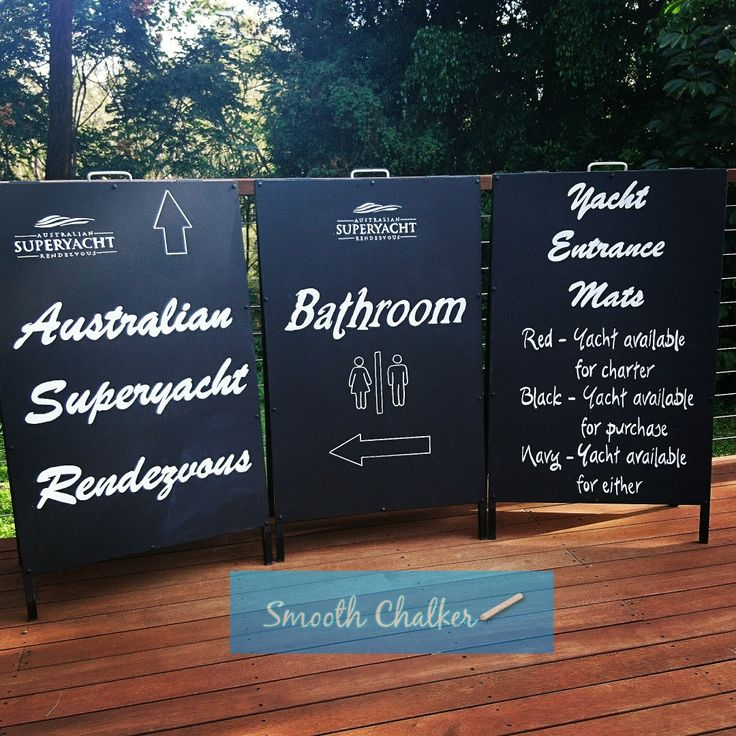 Some A-frame signs for a Superyacht Rendezvous...