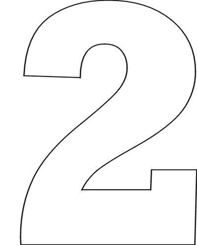 Number Stencils Set 1: Number Stencils: No. 2
