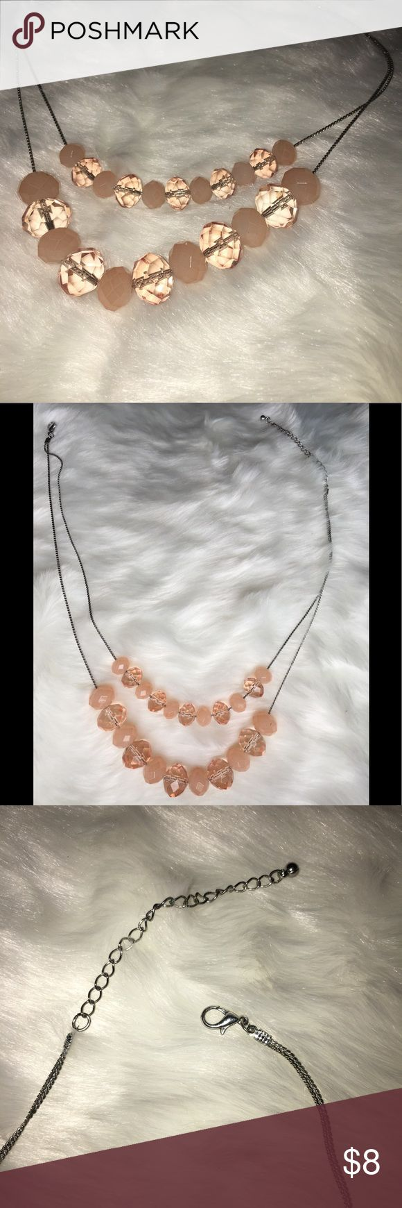 Women's Pink necklace Pin works perfectly fine! Has a heavy duty feel to it, this simple pale pink necklace is amazing with a nice shirt for out and about downtown or night time fun! Jewelry Necklaces