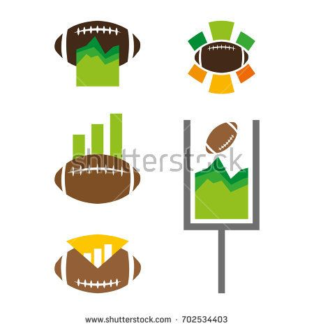 A set of football stats icons