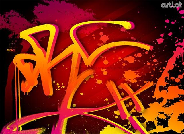 spray paint graffiti wallpaper