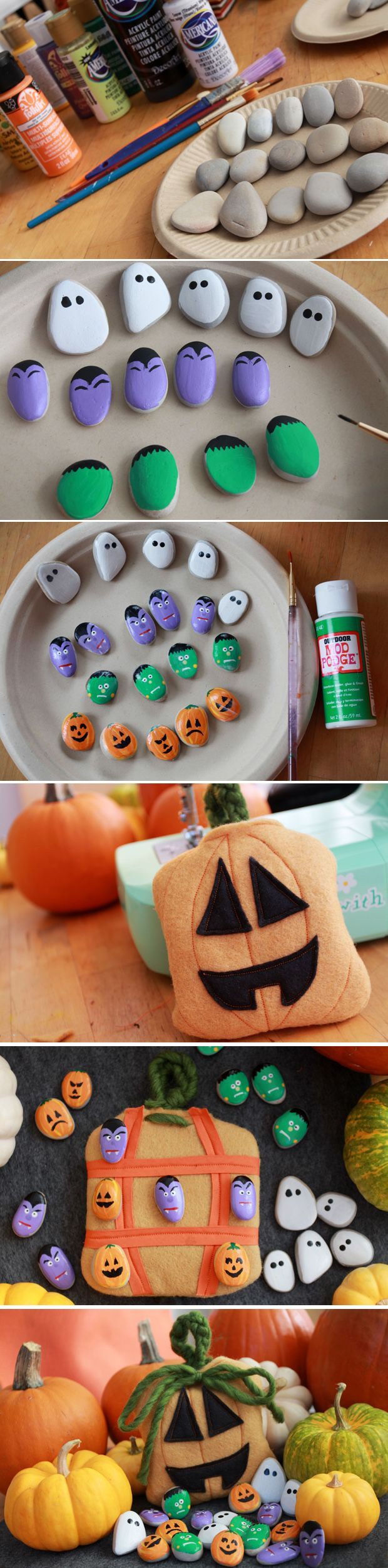 An adorable craft/game you can make and then play with the kids! Painted stones as tic-tac-toe figures in it's own simple-sew jack-o-lantern bag (that doubles as the game board on the flip side!). Spooktacular Halloween DIY: http://www.ehow.com/ehow-crafts/blog/make-a-spooky-tic-tac-toe-game-and-its-pumpkin-pouch/?utm_source=pinterest&utm_medium=fanpage&utm_content=blog