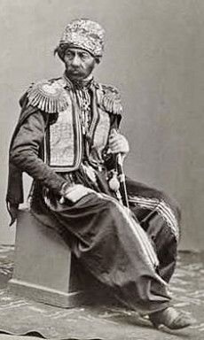 Portrait of a Kurdish general (originating from the Caucasus) in the Russian army, ca. 1870. Photographer: Dmîtrî Nîkîtin.
