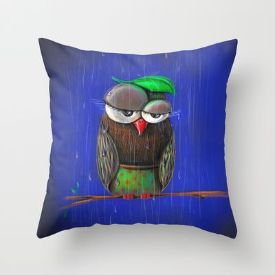 Rainy days Throw Pillow by ioanazdralea - $20.00