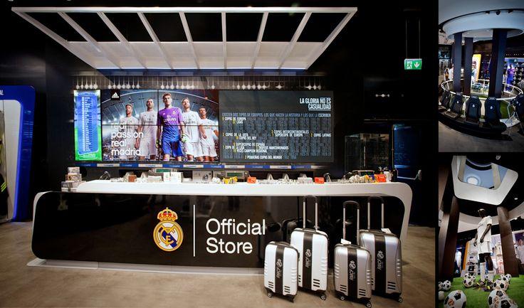 El resultado es una tienda que se convierte en estadio de fútbol a la emisión de ciertos contenidos. Cuando se emiten vídeos de goles históricos del Real Madrid,  el volumen de los contenidos  se incrementa, las luces se disminuyen y se disparan flashes en toda la tienda para simular fotógrafos en los cuatro lados del campo.  De esa manera, se ofrece a los clientes de viajar directamente al corazón del Real Madrid, proponiendo una experiencia en tienda novedosa y original.