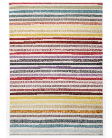 Palermo Multi-Colour Horizontal Stripe Rug