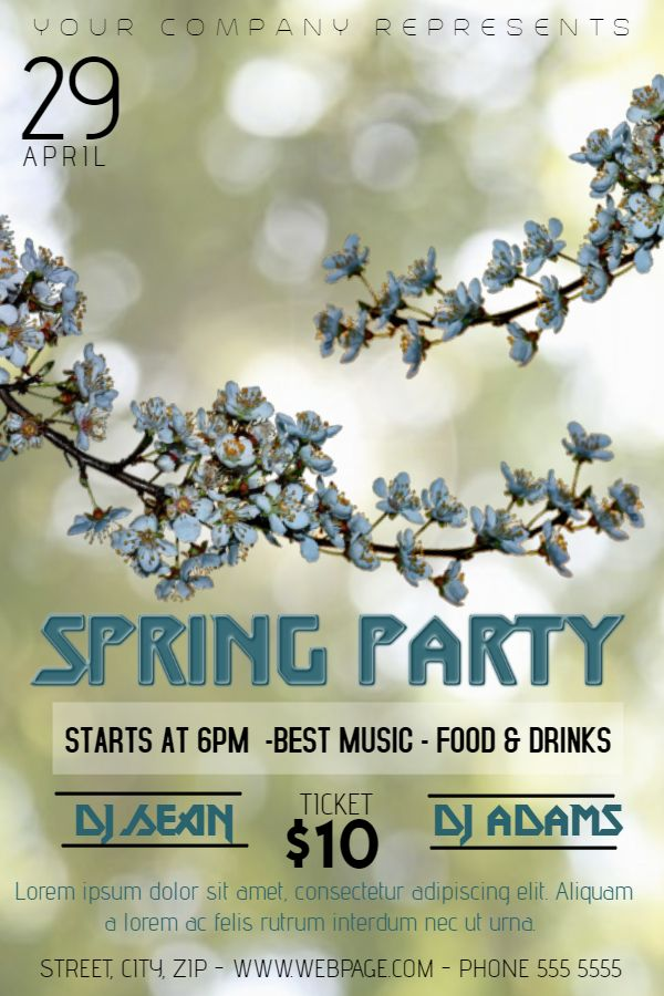 Best Spring Poster Templates Images On   Online