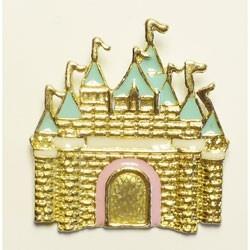 The caste of Princess - charm dorato e smaltato nei colori pastello. dimensioni 35 x 40mm