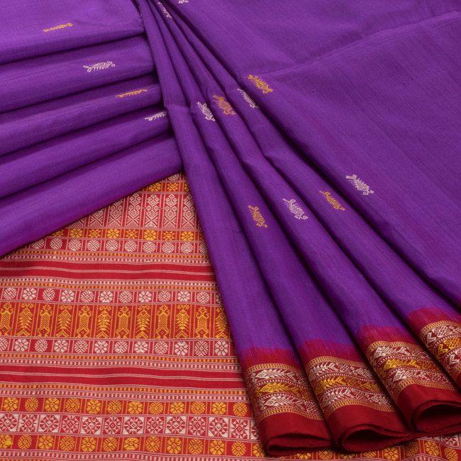 Vriksh Handwoven Madhavi Bomkai Silk Saree 10006900 - creativeprofile - AVISHYA.COM