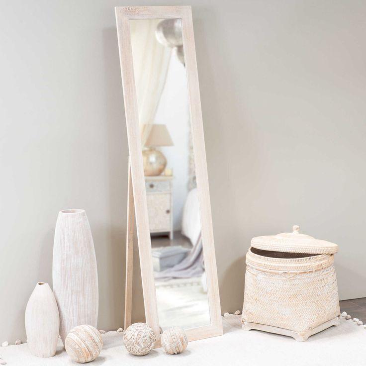 espejo de pie de madera al cm laure