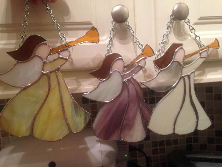 Christmas Angels Stained Glass von VirginiaGlassLady auf Etsy