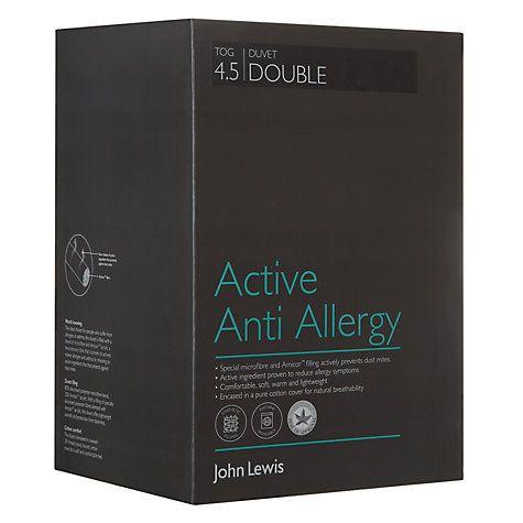 Buy John Lewis Active Anti Allergy Duvet, 4.5 Tog Online at johnlewis.com
