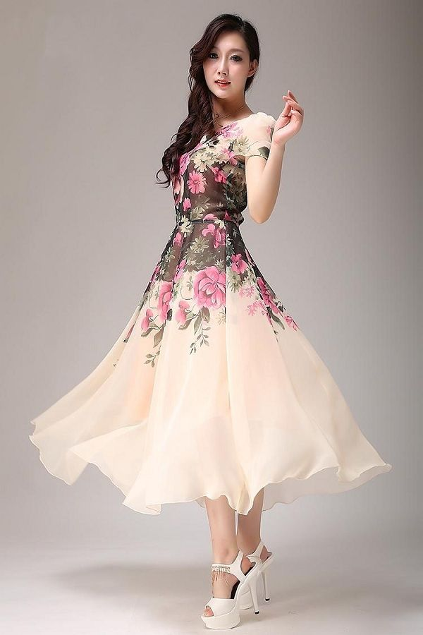 Elegant Tea Length Evening Dresses