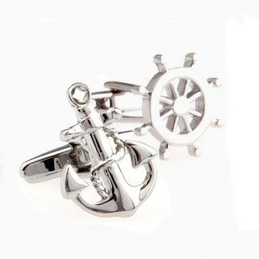 Якорь колесо комплект запонки манжеты ссылка 2 пар купить на AliExpress