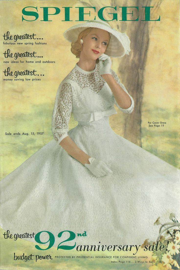 1957 Spiegel Catalog Cover I Love Fashion Pinterest