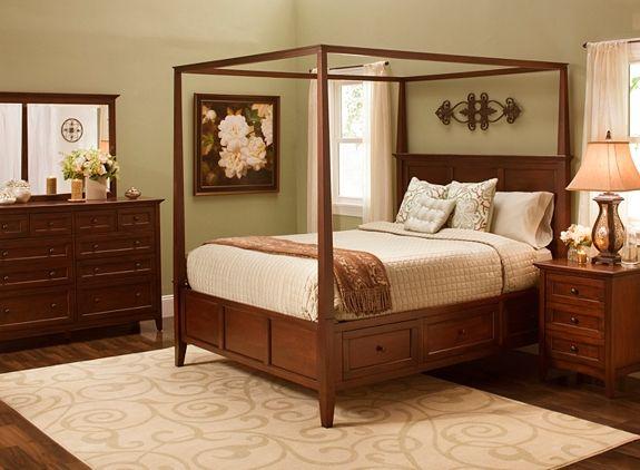 queen canopy platform bedroom set w storage bed bedroom