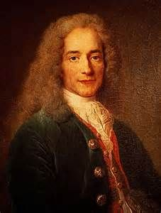 """NTK 4: Voltaire was the greatest figure of the Enlightenment. He was known for his belief in religious tolerance and criticism of Christianity. In 1763 he fought for his """"Treatise on Toleration"""" to put through to governments that """"all men are brothers under God"""". Voltaire achieved deism which evolved into the thought of the Newtonian world-machine. He believed in natural law."""