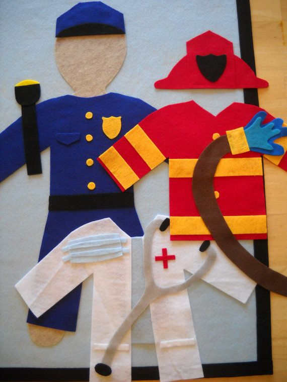 Large Felt Dress-Up Doll Clothes, 'Professional Package'