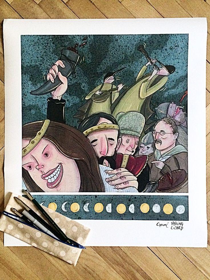 Zlatý kolovrat - Jan Gruml #komiksovakytice #ceskygrimm #kjerben #zlatykolovrat