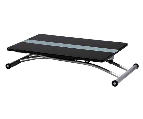 【楽天市場】リフティングテーブル コンパクト90サイズ 昇降テーブル ブラックガラス天板昇降テーブル★MIP-67(BK) 05P10Jan15:PotaricoPublicc
