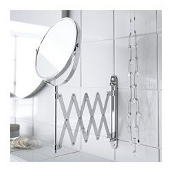 IKEA - FRÄCK, Mirror,  , , One side with magnifying mirror.Suitable for use in high humidity areas since it is water-resistant.