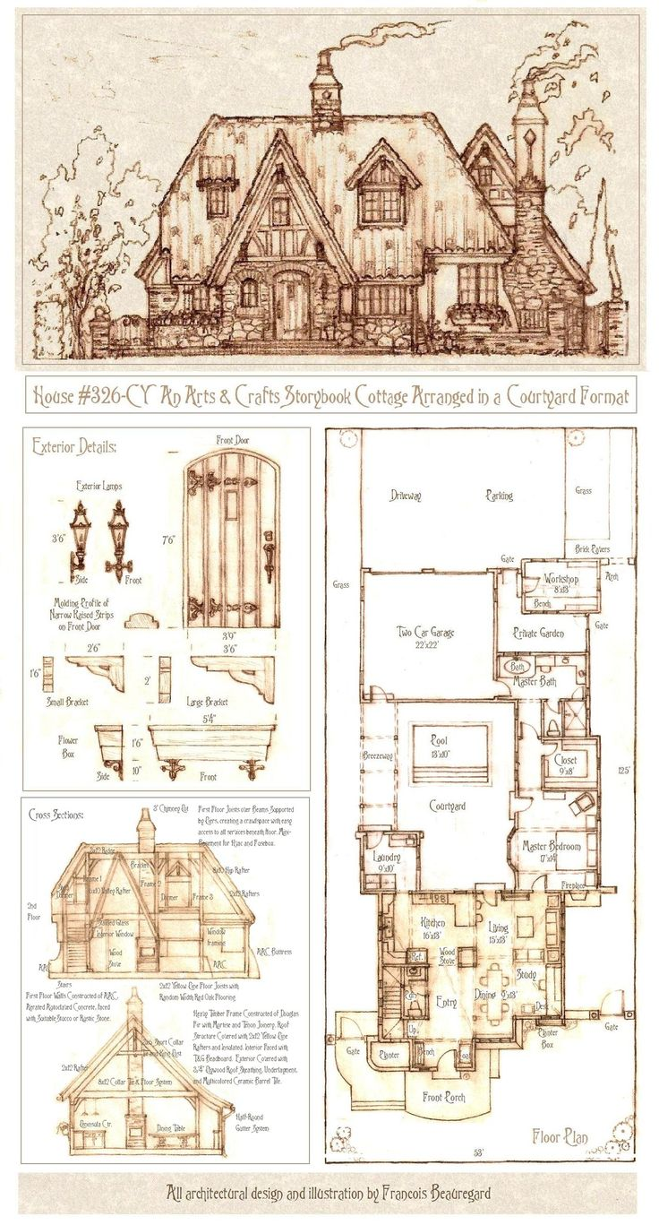 Storybook Cottage House Plans 305 best house plans images on pinterest | vintage houses