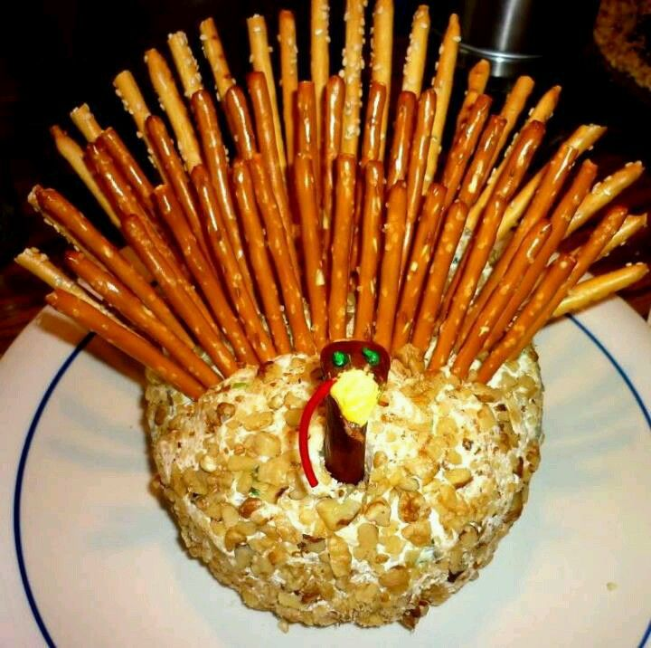 Cute. Going to try this. I always  make a cheese ball for Thanksgiving appetizer.