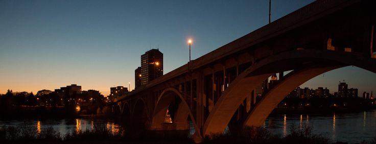 Untitled - Image of the Broadway Bridge.  Saskatoon Saskatchewan Canada