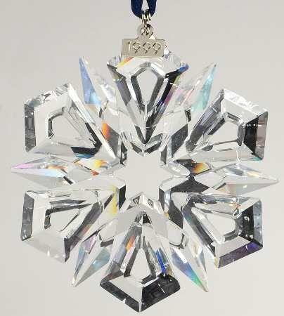 Swarovski 1999 Annual Christmas Snowflake Ornament Z