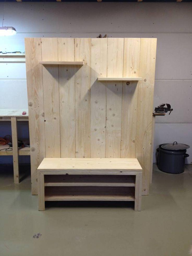 TV+meubel+van+steigerhout