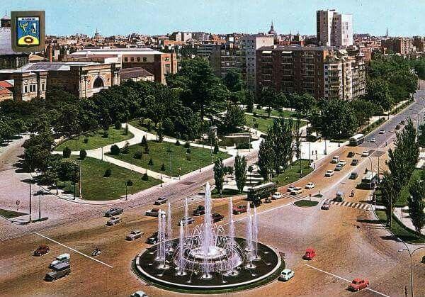 La Plaza de San Juan de la Cruz y el Paseo de la Castellana en los años 60.
