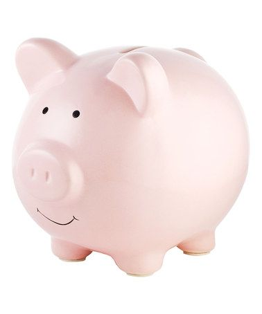 This Pink Piggy Bank is perfect! #zulilyfinds