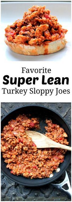 Favorite Lean Turkey Sloppy Joes - clean eating can't get better than this! | Ambitious Kitchen