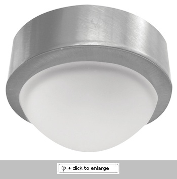 """Mini Frosted Glass Dome Surface Mount Downlight    ETL Listed  Lamp: 12V 20W JC lamp (included)    Dimension: Cutout: 1 7/8"""", Trim O.D.: 2 3/4""""  Regular price: $24.99  Sale price: $14.50"""