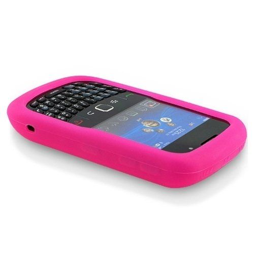 Buy Solid Skin Cover ((Hot Pink) Fot BlackBerry Curve 8520 8530 Silicone Skin Case Cell Phone Protector Phone Accessory NEW for 3.11 USD | Reusell