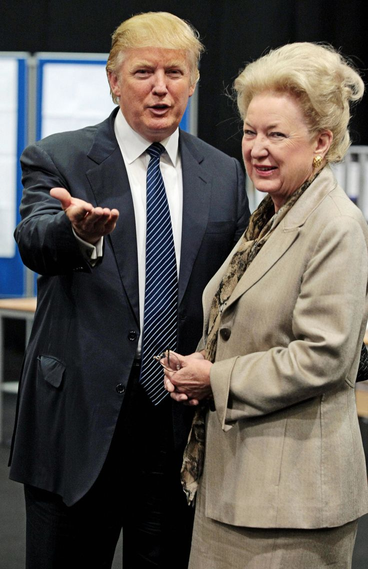 Donald J. Trump with his older sister, Maryanne Trump Barry, in Scotland in 2008. - Ed Jones/Agence France-Presse — Getty Images