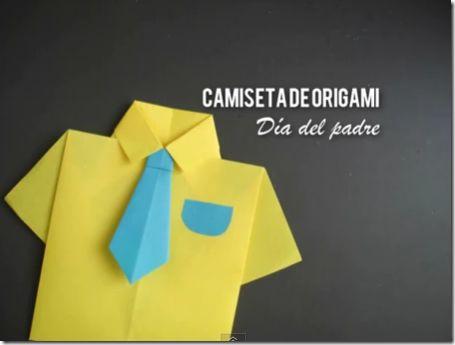 Mas cosas divertidas: Origami día del padre: camisa con corbata