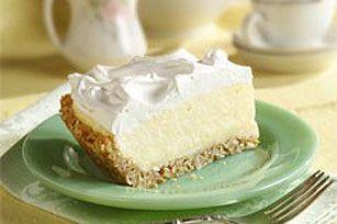 White chocolate coconut pie