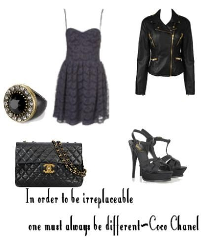 love this outfit!!!!! rocker chic