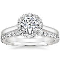 Platinum Lotus Flower Diamond Ring (1/3 ct. tw.)
