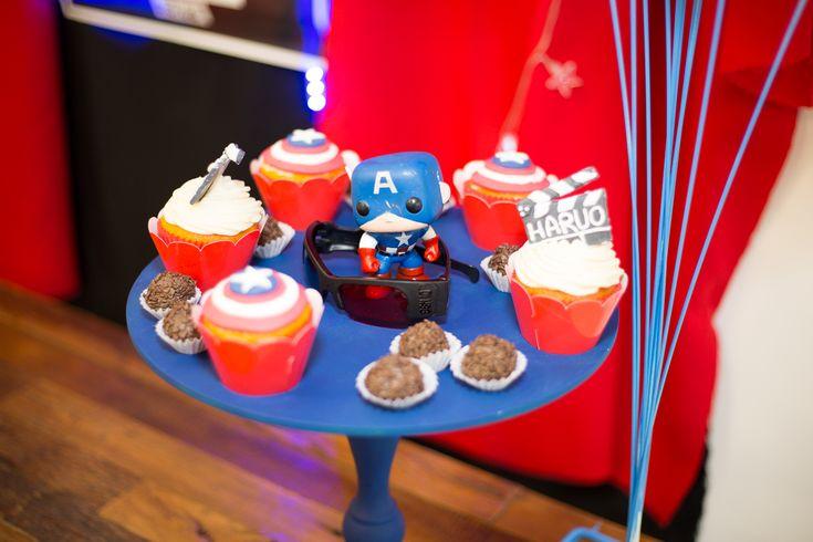 Cupcakes Capitão América