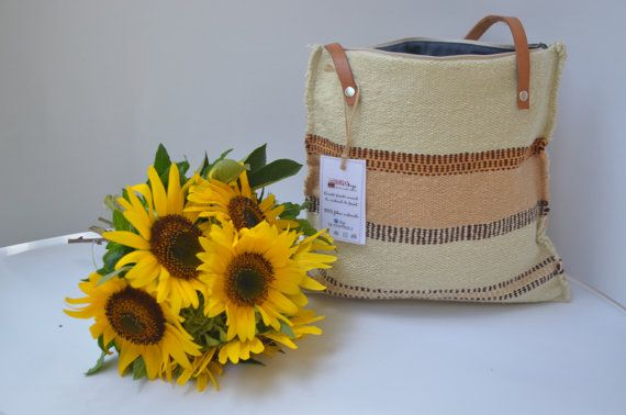 Bag Handwoven handbag tote purse handmade manual loom by rcreativ