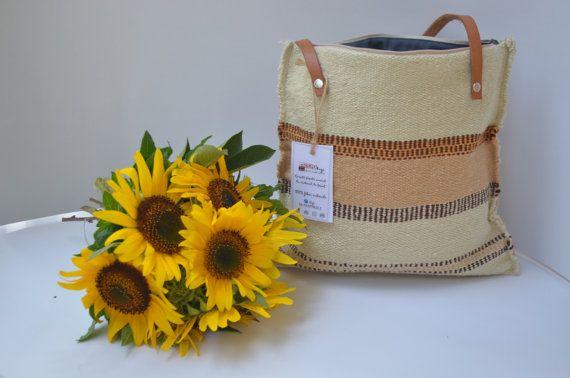 Bag Handwoven handbag tote purse handmade manual loom by rcreativ