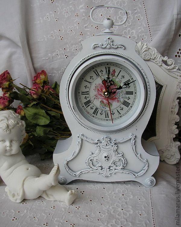 """часы """"Шанталь"""" - часы,часы интерьерные,часы настольные,часы декупаж,шебби-шик"""
