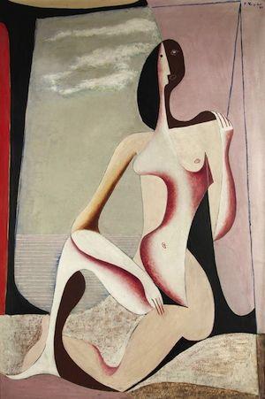 František Muzika (Czech 1900–1974) [Czech Avant-Garde, Devětsil] Nude (1930).